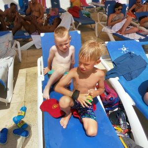 Barcelona football camp aquapark