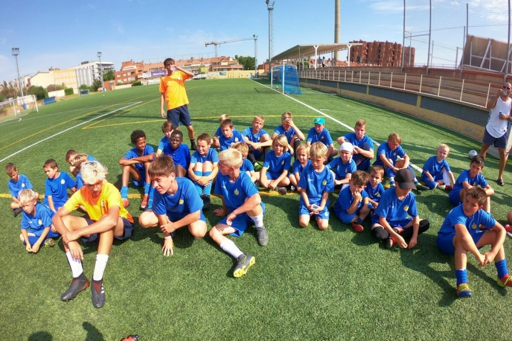 photo football camp meeting