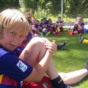 Завершение тренировки. Фото из футбольного лагеря