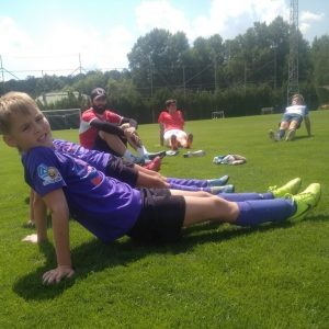 Pro camp stretching