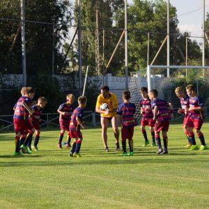 Фото футбольный лагерь в Евпатории разминка с испанцем